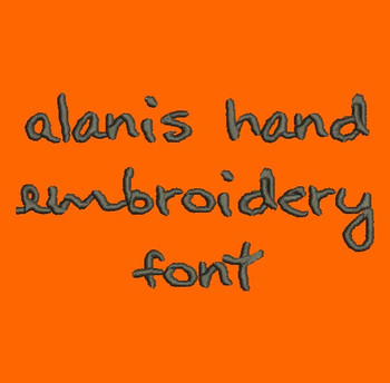 Artist Inspired Handwriting - Alanis Hand Machine Embroidery Font Now Includes BX Format!