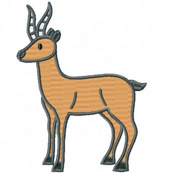 Impala - Safari Animals #01 Machine Embroidery Design