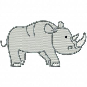 Rhinoceros - Safari Animals #09 Machine Embroidery Design