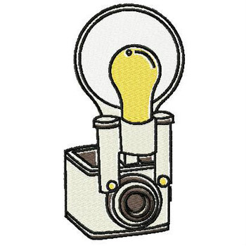 Analog Camera with Bulb - Photography #03 Machine Embroidery Design