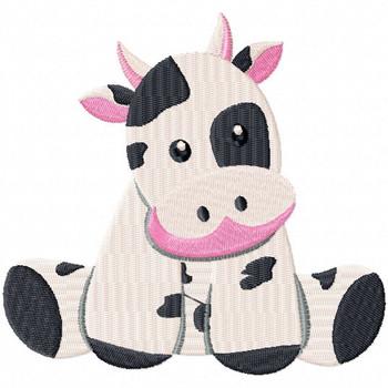 Stuffed Cow - Stuffed Toy #11 Machine Embroidery Design