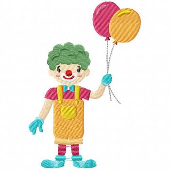 Carnival Clown - Carnival #01 Machine Embroidery Design