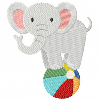 Carnival Elephant - Carnival #03 Machine Embroidery Design