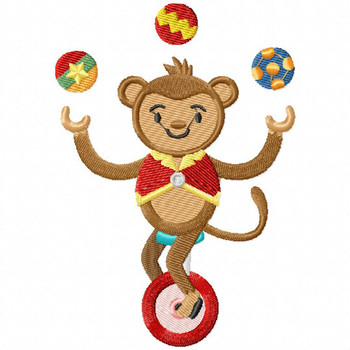 Carnival Monkey - Carnival #07 Machine Embroidery Design
