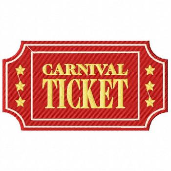 Carnival Ticket - Carnival #12 Machine Embroidery Design
