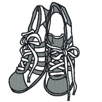 Retro Rubber Shoes - Shoe Collection #02 Machine Embroidery Design