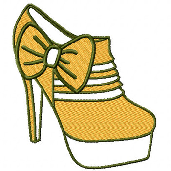 Ankle Boots - Shoe Collection #06 Machine Embroidery Design