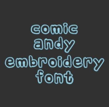 Buzz Story - Comic Andy Machine Embroidery Font