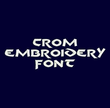 Hero Font - Crom Machine Embroidery Font