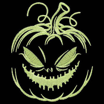 Jack-O-Lantern - Glow in the Dark Halloween #01 Machine Embroidery Design