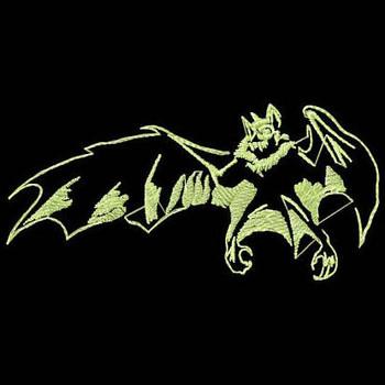 Bat - Glow in the Dark Halloween #03 Machine Embroidery Design
