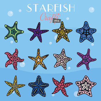 Starfish Collection of 12 Machine Embroidery Designs