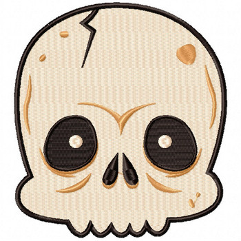 Skull Head - Halloween Heads #03 Machine Embroidery Design