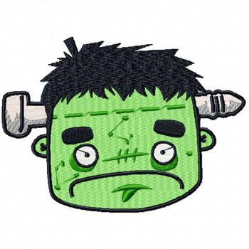 Frankenstein Head - Halloween Heads #04 Machine Embroidery Design