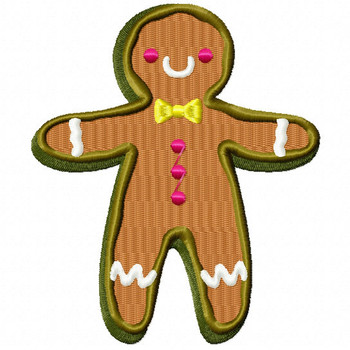 Ginger Bread Cookie - Christmas Cookies #01 Machine Embroidery Design