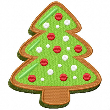 Christmas Tree Cookie - Christmas Cookies #03 Machine Embroidery Design