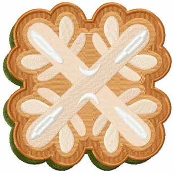 Snowflake Cookie - Christmas Cookies #05 Machine Embroidery Design