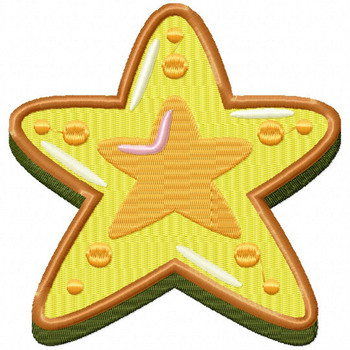 Star Cookie - Christmas Cookies #06 Machine Embroidery Design