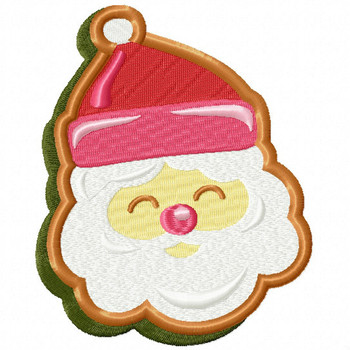 Santa Cookie - Christmas Cookies #07 Machine Embroidery Design