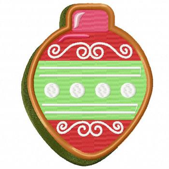 Christmas Ball Cookie - Christmas Cookies #09 Machine Embroidery Design