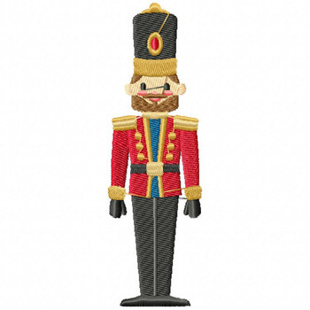 Christmas Toy Soldier #03 Machine Embroidery Design