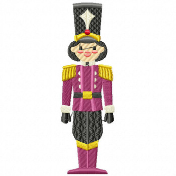 Christmas Toy Soldier #08 Machine Embroidery Design