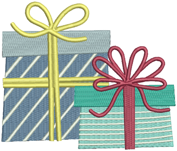 Blue Stripes Gifts - Christmas Gift #17 Machine Embroidery Design