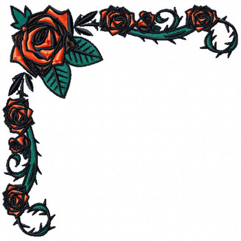 Detailed Rose Pattern Collection #02 Machine Embroidery Design