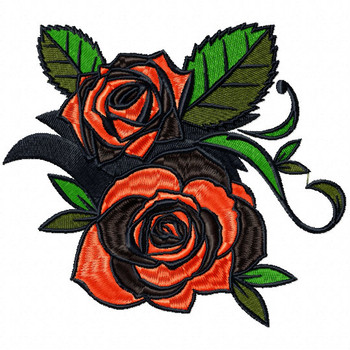 Detailed Rose Pattern Collection #03 Machine Embroidery Design