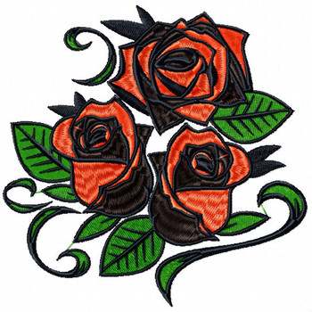 Detailed Rose Pattern Collection #04 Machine Embroidery Design