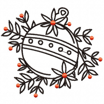 Decorative Outlined Ornament - Christmas Ornaments #16 Machine Embroidery Design