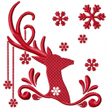 Christmas Antlers #04 Machine Embroidery Design