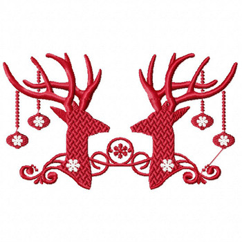 Christmas Antlers #06 Machine Embroidery Design
