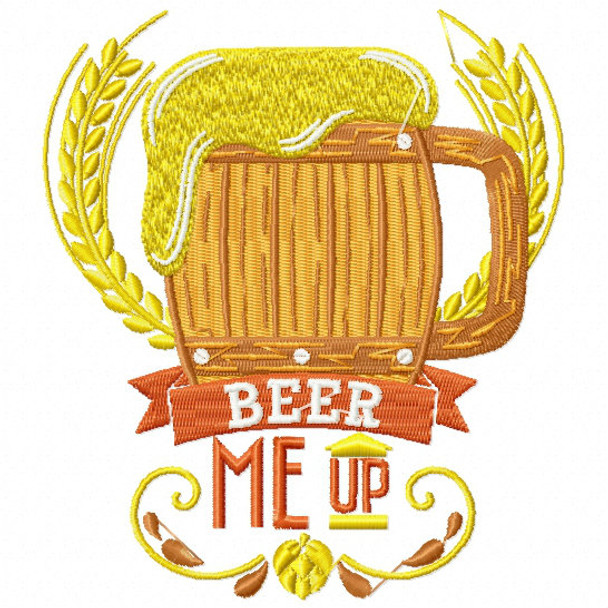 Beer Me Up - Craft Beer Hobby Collection #01 Machine Embroidery Design