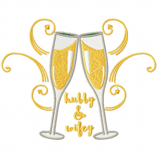 machine embroidery design champagne toast collection 03