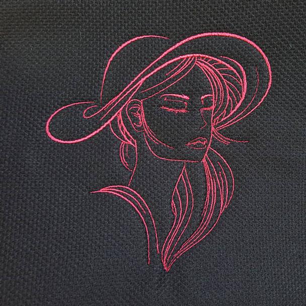 Machine Embroidery Design Hat Modern Ladies Design 3