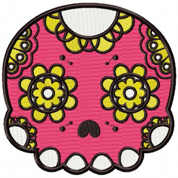 Machine Embroidery Design Sugar Skull Collection 03