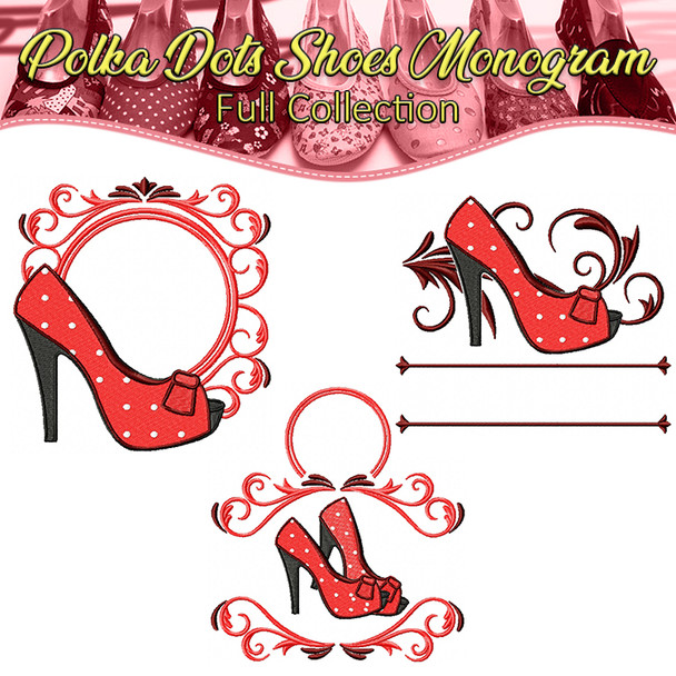 Polka Dots Shoes Monogram Full Collection