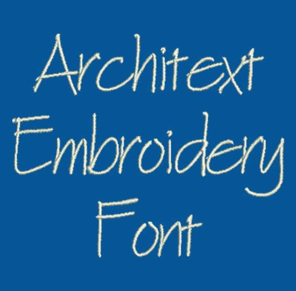 Machine embroidery font blueprint font architext blueprint font architext machine embroidery font now includes bx format malvernweather Choice Image