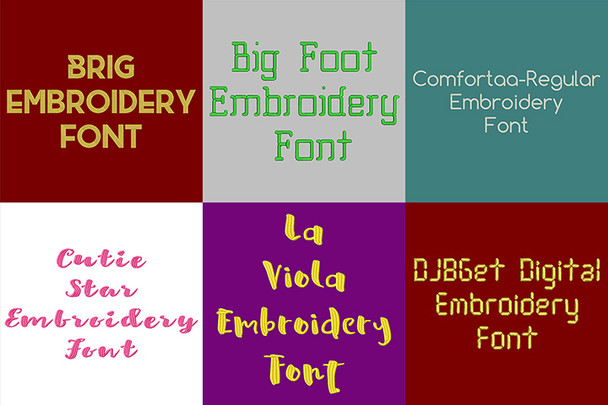 BX Fonts - 20 Embrilliance fonts 1