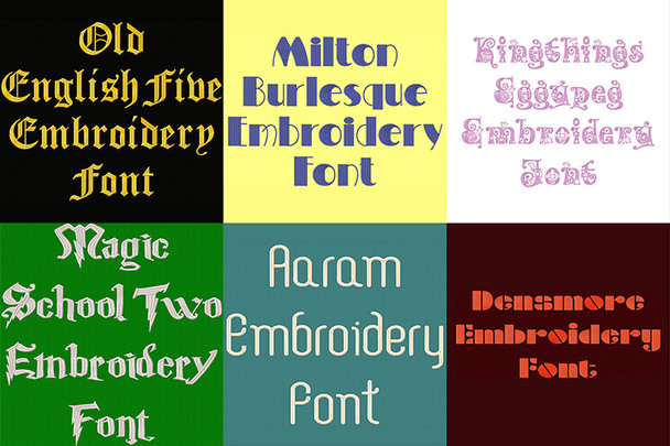 BX Fonts - 20 Embrilliance fonts 2