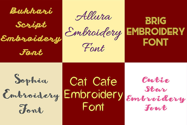 BX Fonts - 20 Embrilliance fonts 4