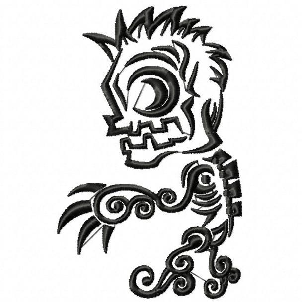 Machine Embroidery Design Tribal Tattoo Halloween 03
