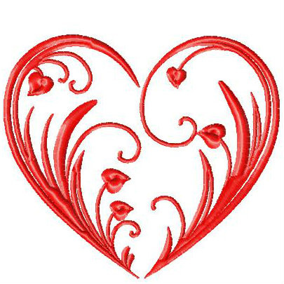 Machine Embroidery Design Valentines Hearts Typography Collection 01