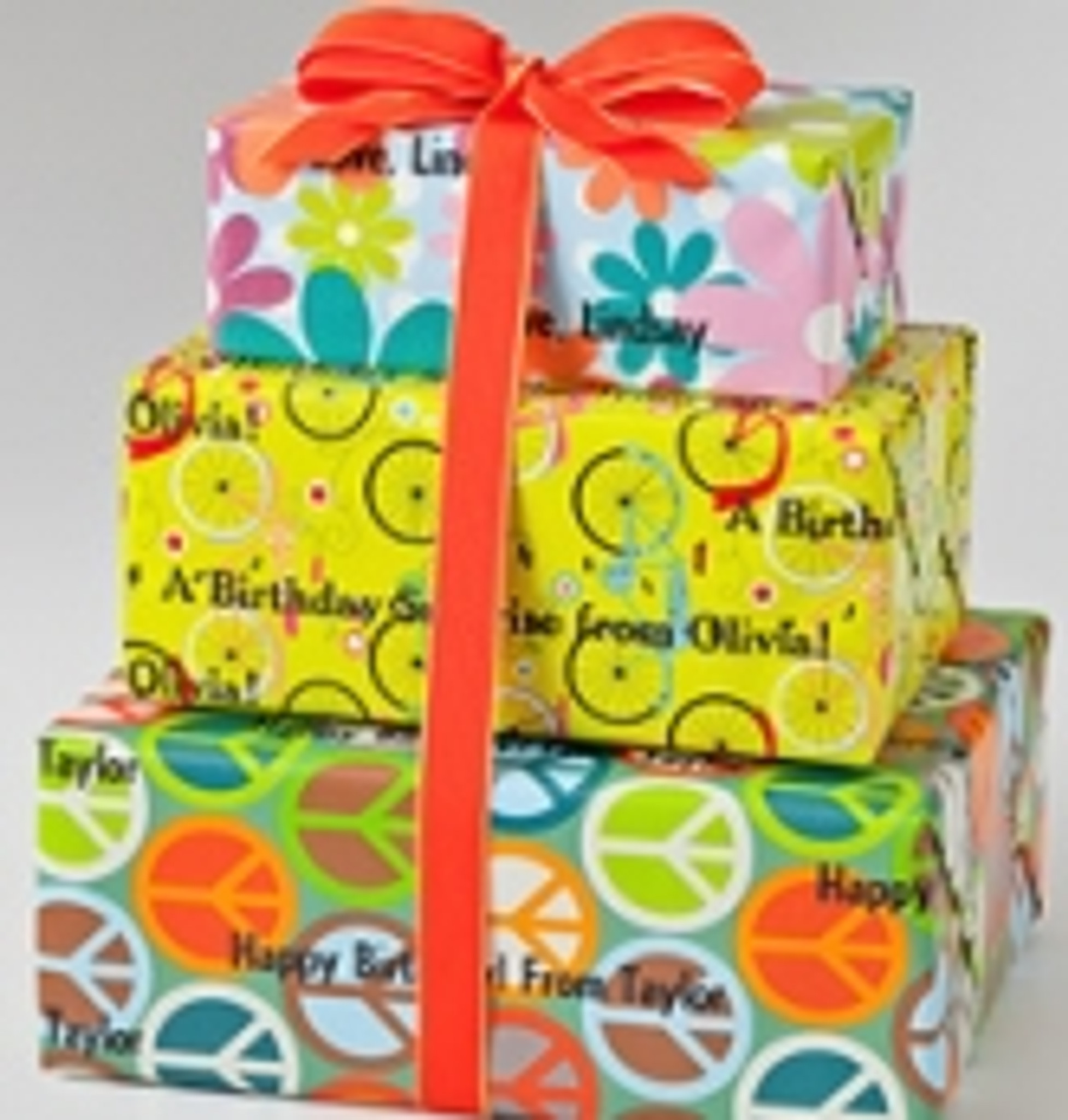 Personalized Gift Wrap - Youth