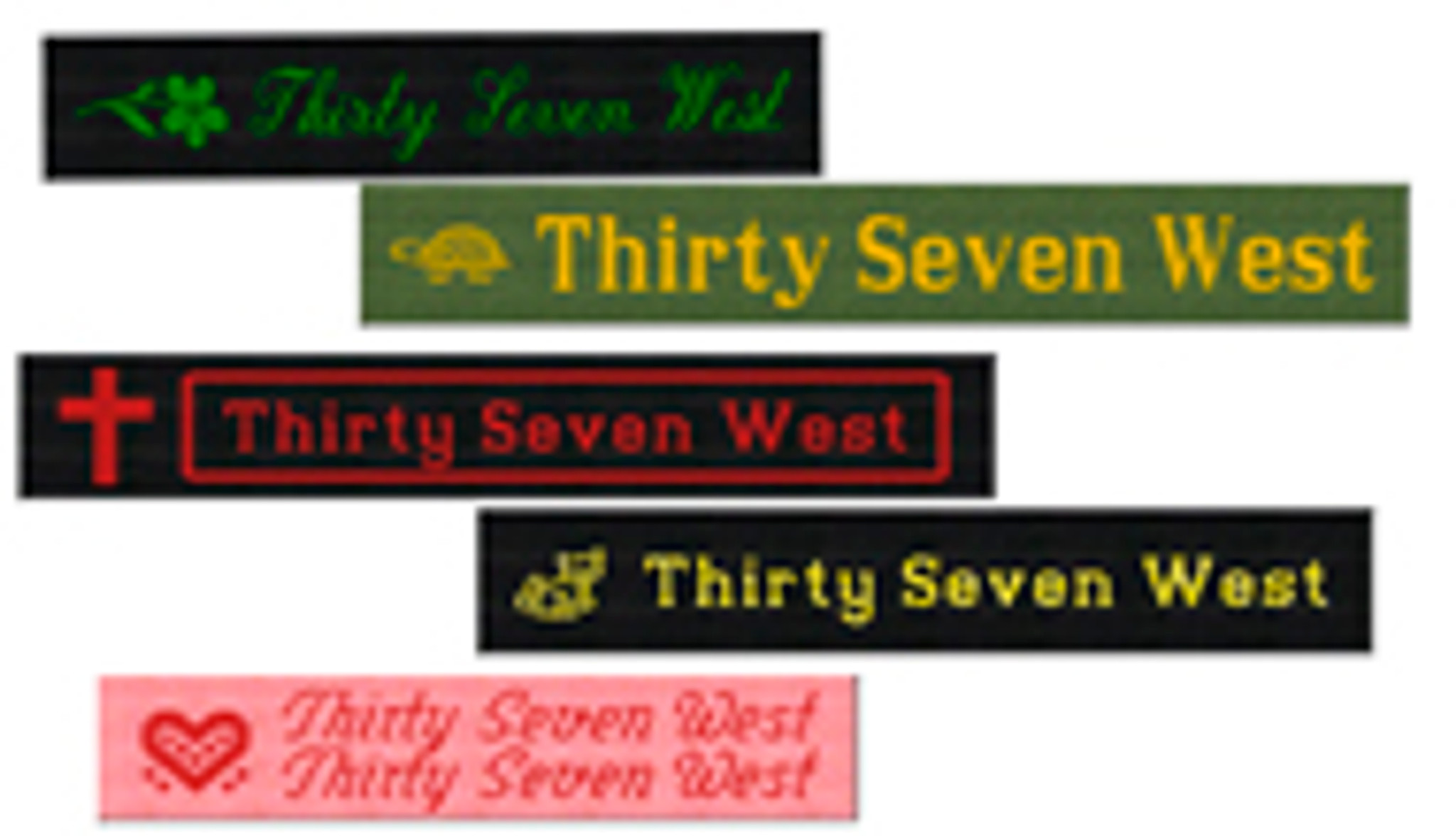 "5/8"" Cotton Woven Clothing Labels"