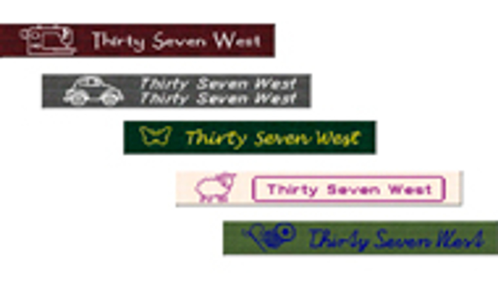 "3/8"" Cotton Woven Clothing Labels"