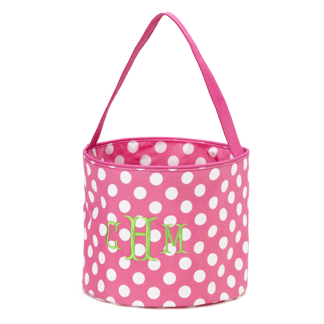 Polka Dot Bucket - Pink and White