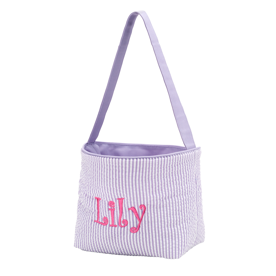 Monogram Shown: Party Time Font/Hot Pink Thread