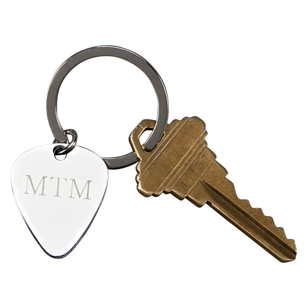Guitar Pick Shaped Key Chain